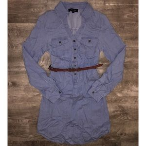 🆕Chambray Popover Shirt Dress